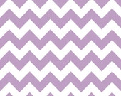 White and Lavender Medium Chevron, Riley Blake, Cotton Sewing Material, Quilting, Clothing, Craft, Fat Quarter, Half Yard,1 Yard,By the Yard