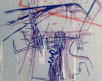Lam Wilfredo  Original Lithograph  1963