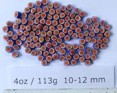 Millefiori 4oz Mixes: Red Stars on Blue 10-12mm
