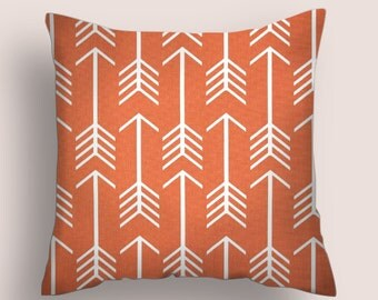 Pillow Covers Orange  20 X 20 Pillow Cover, Accent Pillows, Throw Pillows. Apache Orange Decorative Pillow, Orange Throw Pillow Home Decor