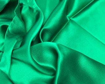 100% Silk - Emerald Green