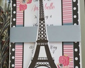 Paris Invitation | Paris Birthday Invitation | Paris Party Invitation | Paris Baby Shower Invitation | Eiffel Tower Invitation