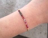 Czech Glass Bracelet-Charm Bracelet-Personalized Jewelry-Delicate Bracelet-Beaded Jewelry-Gift Bracelet-Dainty Bracelet-Minimalist Jewelry