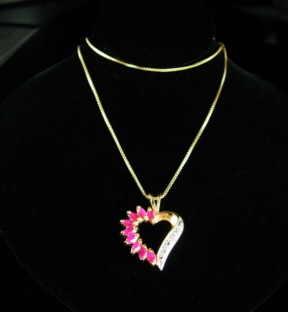 anniversary ruby necklace pendant birthday birthstone