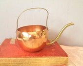 Special Copper and Brass  Watering Can Jug Decanter