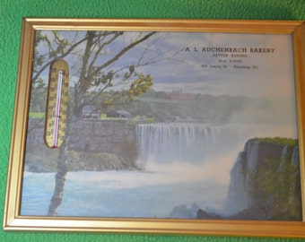 Vintage Advertising Thermometer for  A.L. Auchenbach Bakery