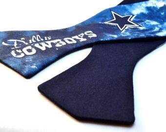 Dallas Cowboys Reversible Tie Dyed Print Bowtie