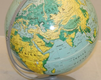 "Vintage Nystrom sculptural relief globe 16"" 1996"