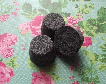 Lolita Black Bath Bombs - Gothic Goth WItch - Bath Bombs - Bath Fizzies - Set of 5 - Party Favors Cute GIfts Fun Kids Woman Teens