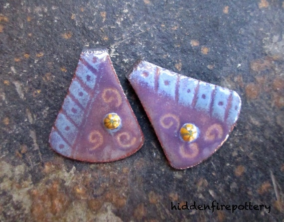 Enameled Earring Charms
