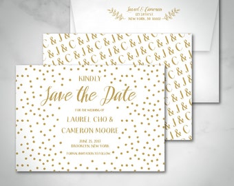 Save The Date | Laurel Whimsical Floral Botanical Wedding