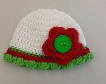 Newborn Girl Christmas Hat