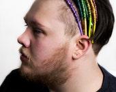 Forested wire wrapped headband / headbands / handmade / etsy / art to wear / wearable art / female artist / green / nature / boho / women