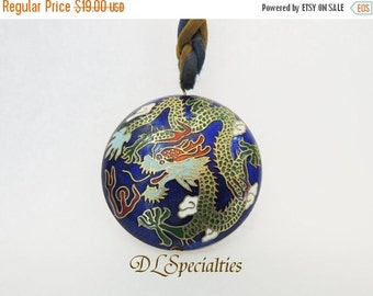 Cloisonne Two Sided Pendant Necklace
