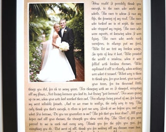 Thank You Wedding Parents Gifts Ideas For Mom Dad Single Parent Personalized Poem With