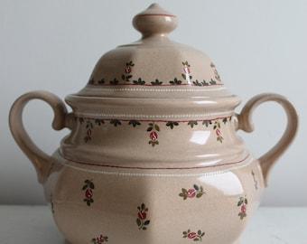 German ceramic soup tureen hand painted