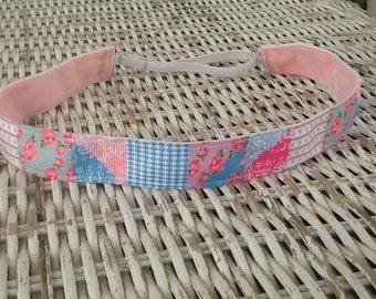 Flower Patchwork Headband - Girls Running Headband