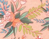 20% off! 1canoe2 Floral Prairie in Primrose for Moda Fabric - Tucker Prairie - Moda Floral Coral Floral 1canoe2 Fabric Peach Floral Material