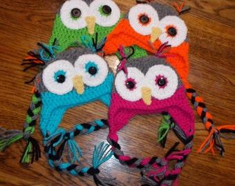 Crocheted Owl Hats