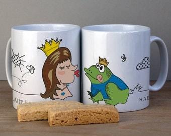 Fairytale Couple Personalised Engagement Mug/ Engagement Gift/ Couple Gift/ Fairytale Gift
