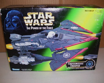 Vintage Star Wars Cruisemissile Trooper Ship, 1996, New Kenner, Power of the Force