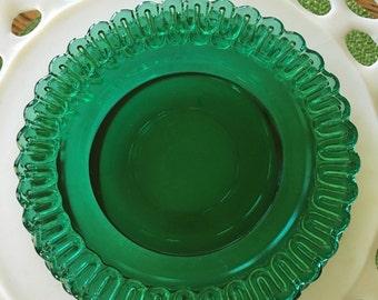 Darling vintage green set of three saucers