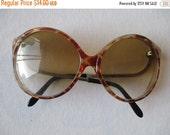 LOVE U SALE Vtg 80's 90's Brown Amber Lens Circular Round Oversize Frame Sun Glasses