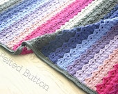 Crochet Pattern, Royal Icing Blanket, Afghan, Baby, Throw