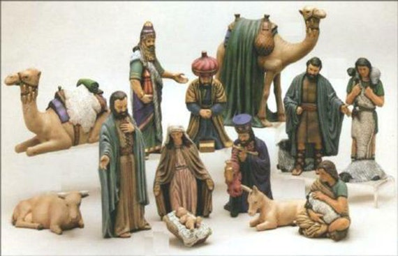 Nativity Duncan 15 Piece Ready To Paint 7 To 9