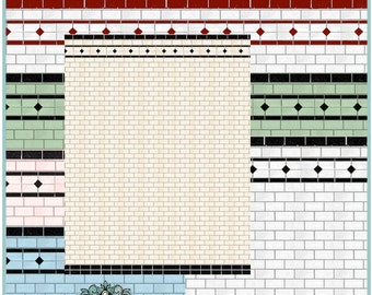 Dollhouse Printable Tile Wallpaper Set