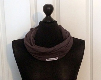 Jersey loop scarf grey