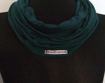 Jersey loop scarf petrol blue
