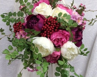 Artificial Silk Country Style Wedding Bouquet