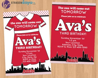 Annie Birthday Party Invitation