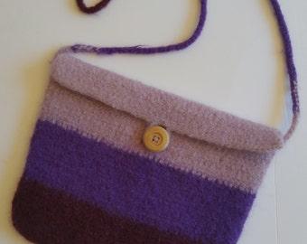 Purple Felted Bag
