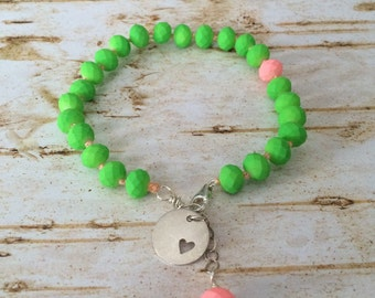 Neon green arm candy bracelet