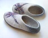 Dragonfly art slippers for women-7,5 US