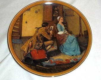 Knowles Norman Rockwell Collectors' Plate Portrait for a Bridegroom / Rockwell's Colonials / Limited and Numbered