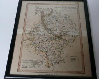 Huntingdonshire Map Framed in Nairobi engraved for Dugdales