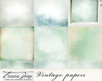 SALE Scrapbook Papers and Digital Paper Pack 26 -Vintage Christmas