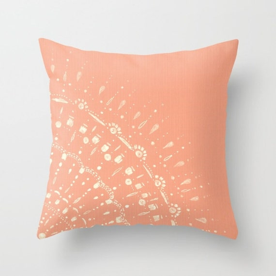 Coral Pink Throw Pillows : Coral Pink Throw Pillow Cover pink pillow cover pink throw