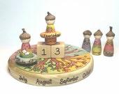 Simple Gifts Original Design Perpetual Calendar // MADE TO ORDER // Nature Table // Waldorf Education // Four Seasons // Calendar