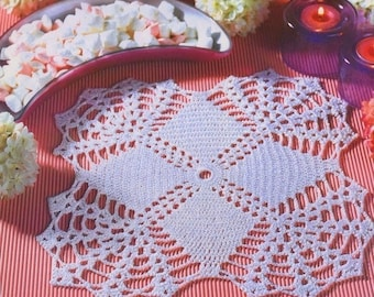 Lace flowers white doily crochet