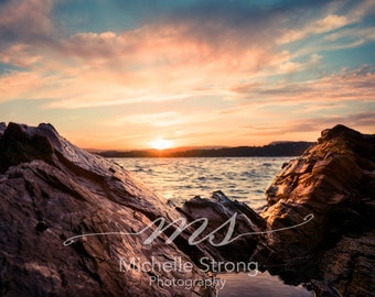 Sunset Photography, Europe, Norway Prints, Nature Photography, Landscape, Ocean and Rocks, Travel Photography, Beach Prints, Canvas Prints