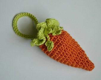 Easter Carrot Purse Carrot Bag Crochet Carrot Drawstring Bag Carrot Wristlet Photo Prop Carrot Accessories Ruffle Bag