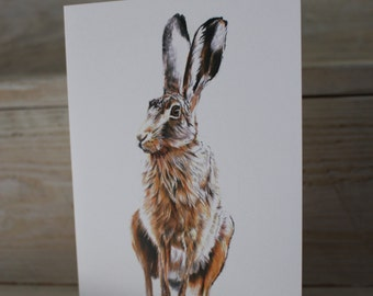 Blank Hare Greeting Card