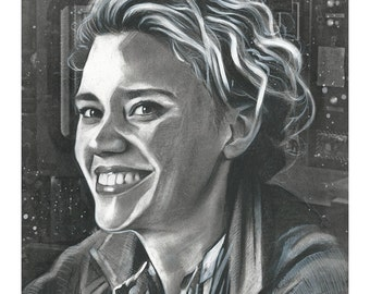 "Signed Giclee Print by James Hance -  ""Holtzmann"" (Ghostbusters / Kate McKinnon)"