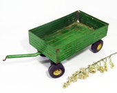 Toy, Farm, Wagon, Trailer, Green, Ertl, Vintage, Metal, Farmhouse, Rustic