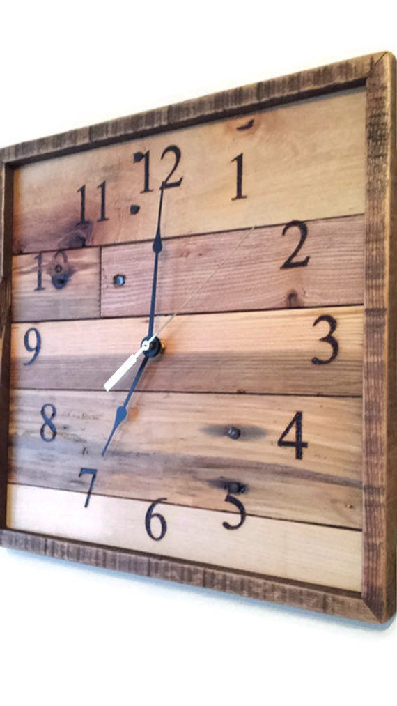 Special Order For Amanda Square Pallet Wood Wall Clock