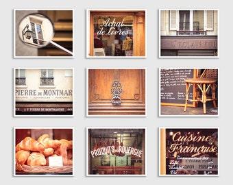 ANY Nine Photography Prints - Save 40%,Set of nine Prints,Fine Art Photography,Paris photography,Paris decor,Italy photography,Love,France